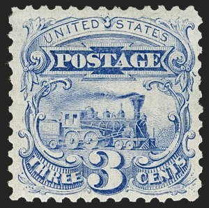 Sale Number 1224, Lot Number 135, 1875 Re-Issue of 1869 Pictorial Issue3c Blue, Re-Issue (125), 3c Blue, Re-Issue (125)