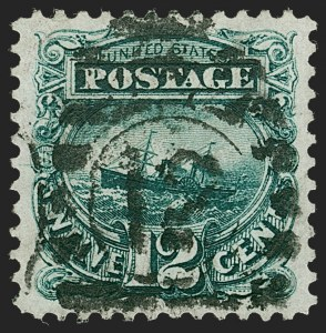 Sale Number 1224, Lot Number 136, 1875 Re-Issue of 1869 Pictorial Issue12c Green, Re-Issue (128), 12c Green, Re-Issue (128)