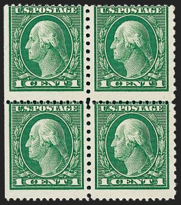 Sale Number 1224, Lot Number 200, 1914-1922 and Later Issues1c Green, Perf 12 x 10 (423A), 1c Green, Perf 12 x 10 (423A)