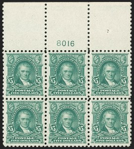 Sale Number 1224, Lot Number 205, 1914-1922 and Later Issues$5.00 Light Green (480), $5.00 Light Green (480)