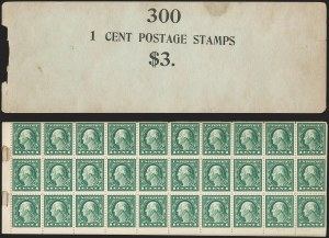 Sale Number 1224, Lot Number 206, 1914-1922 and Later Issues1c Green, A.E.F. Booklet Pane, Complete $3.00 Booklet (498f/BK64), 1c Green, A.E.F. Booklet Pane, Complete $3.00 Booklet (498f/BK64)