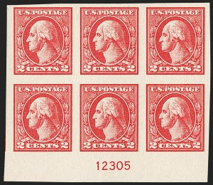 Sale Number 1224, Lot Number 212, 1914-1922 and Later Issues2c Carmine, Ty. VII, Imperforate (534B), 2c Carmine, Ty. VII, Imperforate (534B)