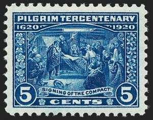 Sale Number 1224, Lot Number 214, 1914-1922 and Later Issues5c Pilgrim Tercentenary (550), 5c Pilgrim Tercentenary (550)