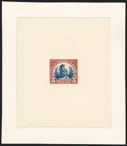 Sale Number 1224, Lot Number 217, 1914-1922 and Later Issues$5.00 Head of Freedom, Large Die Proof on India (573P1), $5.00 Head of Freedom, Large Die Proof on India (573P1)
