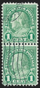 Sale Number 1224, Lot Number 218A, 1914-1922 and Later Issues1c Green, Rotary, Perf 11 (594), 1c Green, Rotary, Perf 11 (594)