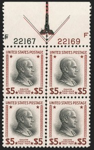 Sale Number 1224, Lot Number 220, 1914-1922 and Later Issues$5.00 Red Brown & Black (834a), $5.00 Red Brown & Black (834a)