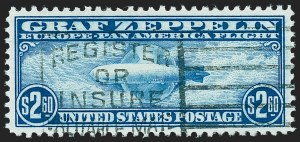 Sale Number 1224, Lot Number 228, Air Post, including Upright Jenny Error$2.60 Graf Zeppelin (C15), $2.60 Graf Zeppelin (C15)