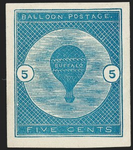 Sale Number 1224, Lot Number 231, Air Post, including Upright Jenny Error5c Deep Blue, Buffalo Balloon (CL1), 5c Deep Blue, Buffalo Balloon (CL1)