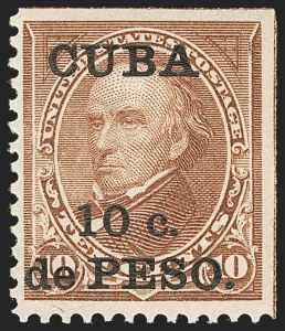 Sale Number 1224, Lot Number 309, Canal Zone, Cuba, Guam, PhilippinesCUBA, 1900, 10c on 10c Brown, Ty. II (226A), CUBA, 1900, 10c on 10c Brown, Ty. II (226A)