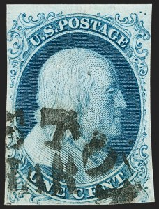 Sale Number 1224, Lot Number 31, 1851-56 Issue1c Blue, Ty. Ib (5A), 1c Blue, Ty. Ib (5A)