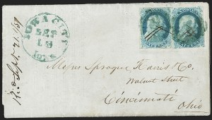 Sale Number 1224, Lot Number 32, 1851-56 Issue1c Blue, Ty. Ib (5A), 1c Blue, Ty. Ib (5A)