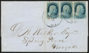 Sale Number 1224, Lot Number 34, 1851-56 Issue1c Blue, Ty. II (7), 1c Blue, Ty. II (7)