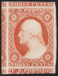 Sale Number 1224, Lot Number 36, 1851-56 Issue3c Dull Red, Ty. II (11A). Mint N.H, 3c Dull Red, Ty. II (11A). Mint N.H
