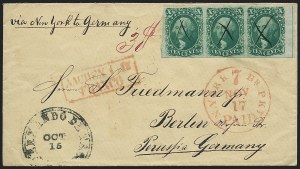 Sale Number 1224, Lot Number 38, 1851-56 Issue10c Green, Ty. III (15), 10c Green, Ty. III (15)