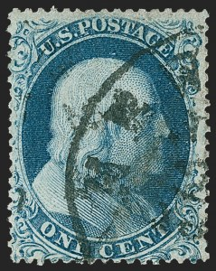 Sale Number 1224, Lot Number 59, 1857-60 Issue1c Blue, Ty. Ia (19), 1c Blue, Ty. Ia (19)