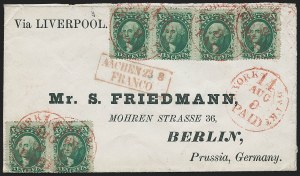 Sale Number 1224, Lot Number 65, 1857-60 Issue10c Green, Ty. V (35), 10c Green, Ty. V (35)