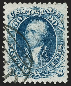 Sale Number 1224, Lot Number 87, 1861-66 Issue90c Blue (72), 90c Blue (72)