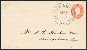 Sale Number 1225, Lot Number 110, Postmasters' Provisionals (Mt. Lebanon thru New Orleans)Mount Lebanon La. May 20 (1861), Mount Lebanon La. May 20 (1861)