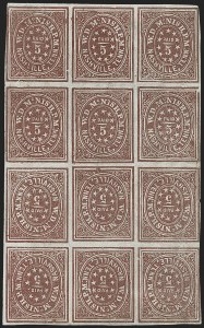 Sale Number 1225, Lot Number 115, Postmasters' Provisionals (Mt. Lebanon thru New Orleans)Nashville Tenn., 5c Violet Brown, Tete-Beche Block (61X5a), Nashville Tenn., 5c Violet Brown, Tete-Beche Block (61X5a)