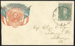 Sale Number 1225, Lot Number 142, C.S.A. Patriotic Covers5c Green, Stone 1-2 (1), 5c Green, Stone 1-2 (1)