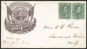 Sale Number 1225, Lot Number 145, C.S.A. Patriotic Covers5c Green, Stone 1 (1), 5c Green, Stone 1 (1)