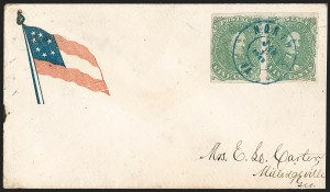 Sale Number 1225, Lot Number 150, C.S.A. Patriotic Covers5c Bright Green, Stone 2 (1), 5c Bright Green, Stone 2 (1)