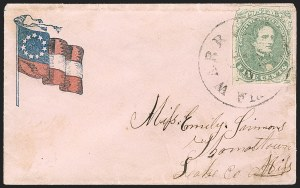 Sale Number 1225, Lot Number 160, C.S.A. Patriotic Covers5c Green, Stone 1-2 (1), 5c Green, Stone 1-2 (1)