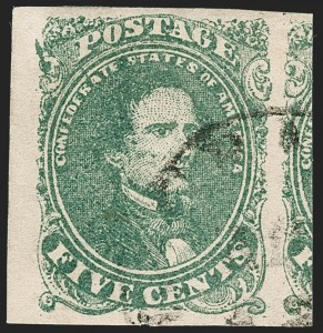 Sale Number 1225, Lot Number 182, Lithographed Issues (Scott 1-2)5c Green, Stone 2 (1 var), 5c Green, Stone 2 (1 var)