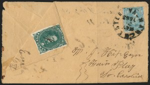 Sale Number 1225, Lot Number 187, Lithographed Issues (Scott 1-2)5c Green, Stone 1-2 (1), 5c Green, Stone 1-2 (1)
