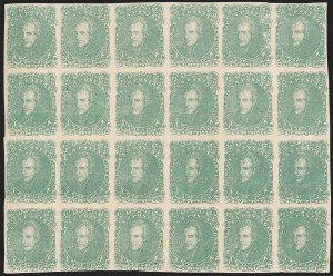 Sale Number 1225, Lot Number 202, Lithographed Issues (Scott 3-4)2c Green (3), 2c Green (3)