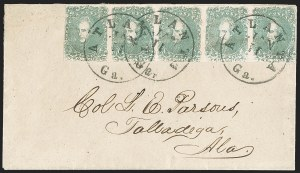 Sale Number 1225, Lot Number 207, Lithographed Issues (Scott 3-4)2c Green (3), 2c Green (3)