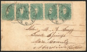 Sale Number 1225, Lot Number 208, Lithographed Issues (Scott 3-4)2c Green (3), 2c Green (3)