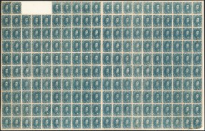 Sale Number 1225, Lot Number 212, Lithographed Issues (Scott 3-4)5c Blue, Stone 2 (4), 5c Blue, Stone 2 (4)