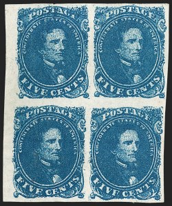 Sale Number 1225, Lot Number 214, Lithographed Issues (Scott 3-4)5c Dark Blue, Stone 2 (4a), 5c Dark Blue, Stone 2 (4a)