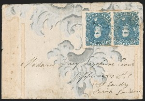 Sale Number 1225, Lot Number 219, Lithographed Issues (Scott 3-4)5c Blue, Stone 2 (4), 5c Blue, Stone 2 (4)