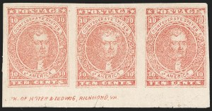 Sale Number 1225, Lot Number 224, Lithographed Issues (Scott 5)10c Rose (5), 10c Rose (5)