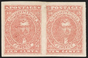 "Sale Number 1225, Lot Number 227, Lithographed Issues (Scott 5)10c Rose, ""Big Shift"" Replaced Transfer (5 var), 10c Rose, ""Big Shift"" Replaced Transfer (5 var)"