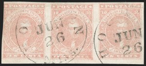 Sale Number 1225, Lot Number 230, Lithographed Issues (Scott 5)10c Rose (5), 10c Rose (5)