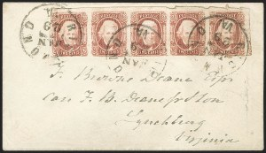 Sale Number 1225, Lot Number 252, Engraved Issues (Scott 8-10)2c Brown Red (8), 2c Brown Red (8)