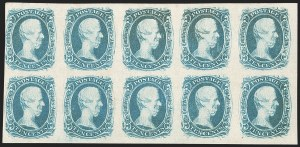 "Sale Number 1225, Lot Number 259, Engraved Issues (Scott 8-10)10c Blue, ""TEN"" (9), 10c Blue, ""TEN"" (9)"