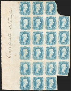 "Sale Number 1225, Lot Number 260, Engraved Issues (Scott 8-10)10c Blue, ""TEN"" (9), 10c Blue, ""TEN"" (9)"
