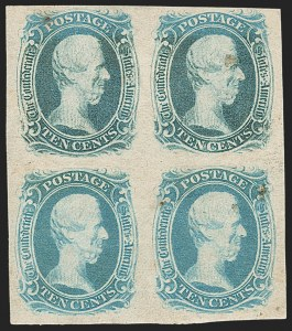 "Sale Number 1225, Lot Number 261, Engraved Issues (Scott 8-10)10c Blue, ""TEN"" (9), 10c Blue, ""TEN"" (9)"