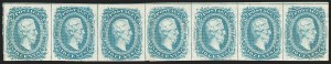 Sale Number 1225, Lot Number 274, Engraved Issues (Scott 8-10)10c Blue, Frameline (10), 10c Blue, Frameline (10)