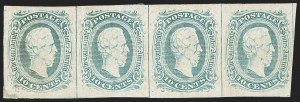 Sale Number 1225, Lot Number 275, Engraved Issues (Scott 8-10)10c Blue, Frameline (10), 10c Blue, Frameline (10)