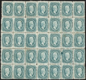 Sale Number 1225, Lot Number 289, Engraved Issues (Scott 11-13)10c Blue, Die A, Perforated (11e), 10c Blue, Die A, Perforated (11e)