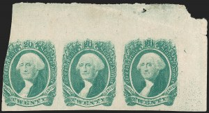 "Sale Number 1225, Lot Number 297, Engraved Issues (Scott 11-13)20c Green, ""20 Kiss Print"" (13 var.), 20c Green, ""20 Kiss Print"" (13 var.)"