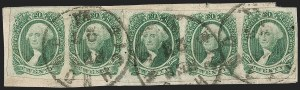 Sale Number 1225, Lot Number 299, Engraved Issues (Scott 11-13)20c Green (13), 20c Green (13)