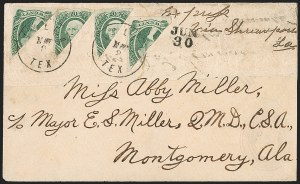 Sale Number 1225, Lot Number 306, Engraved Issues (Scott 11-13)20c Green, Diagonal Half (13d), 20c Green, Diagonal Half (13d)