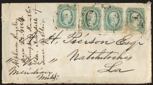 Sale Number 1225, Lot Number 308, Trans-Mississippi Express10c Greenish Blue, Die B (12c), 10c Greenish Blue, Die B (12c)