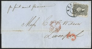 Sale Number 1225, Lot Number 35, Independent and C.S.A. Use of U.S. StampsMobile Ala. Apr. 27, 1861, Mobile Ala. Apr. 27, 1861